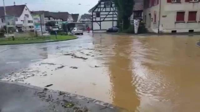 Unwetter im Baselbiet, Allschwil