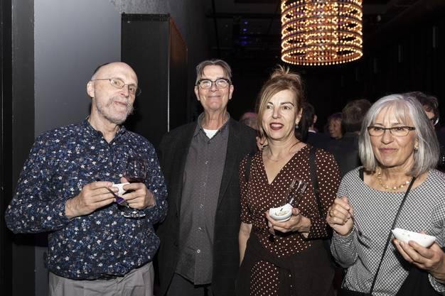 Musik, Theater und Medien: Jacques Siron, Ruedi Häusermann, Esther Schneider und Sabina Binggeli.