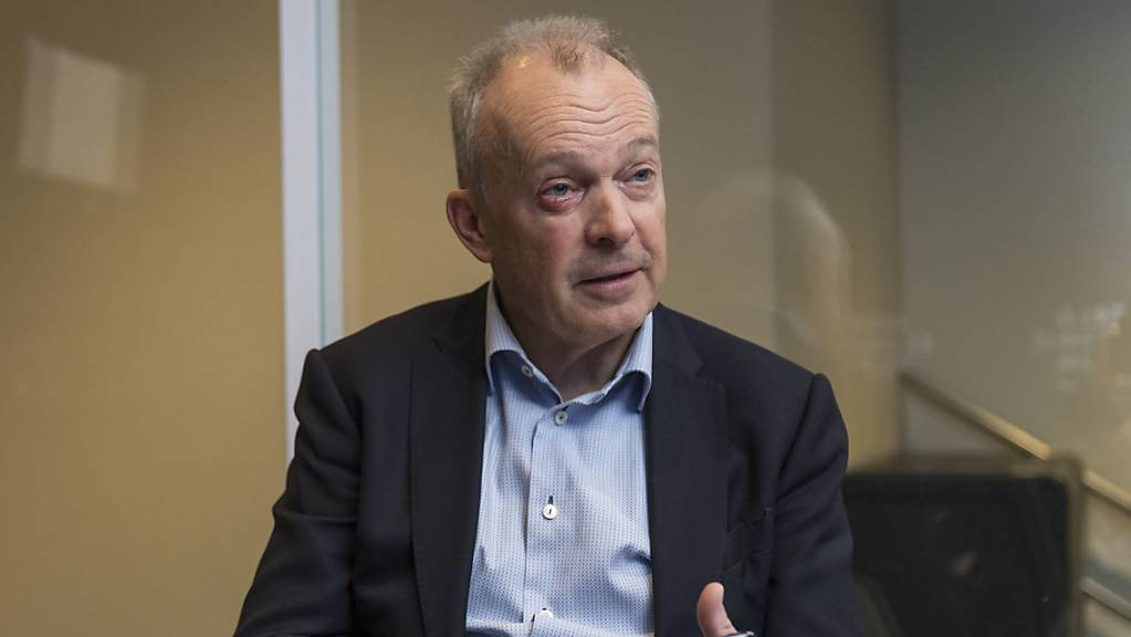 Swisscom-Chef Urs Schaeppi im Interview mit der Nachrichtenagentur Keystone-SDA am WEF in Davos.