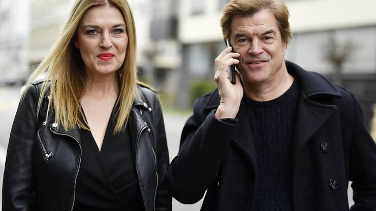 """""""Weil du nur einmal lebst - Die Toten Hosen auf Tour"""" ab heute in den Deutschschweizer Kinos: Frontmann Campino mit Regisseurin Cordula Kablitz-Post in Zürich."""