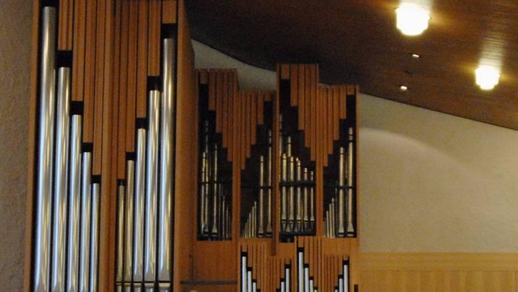 Orgelmusik gehört natürlich zur Weihnachtsfeier am 24. Dezember in der katholischen Kirche Windisch dazu. Walter Schwager/Arch