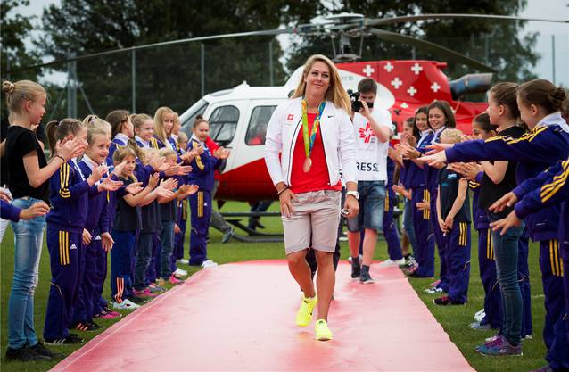 Empfang in der Heimat: Giulia Steingruber wird 2016 in Gossau für die Olympia-Bronzemedaille am Sprung geehrt.