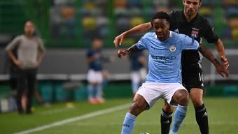 Englands Siegestorschütze Raheem Sterling (vorne), hier im Dress von Manchester City