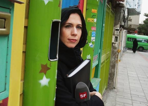 Auf Reportage in Teheran.