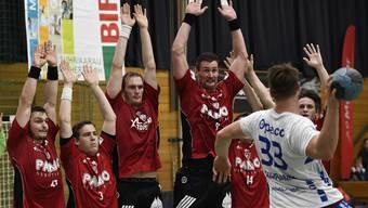 Geballte Abwehrkraft: HSC Suhr Aarau ist defensiv das zweitbeste Team der Liga.