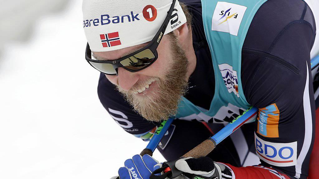 Martin Johnsrud Sundby beisst auf die Zähne - aber es reicht nicht