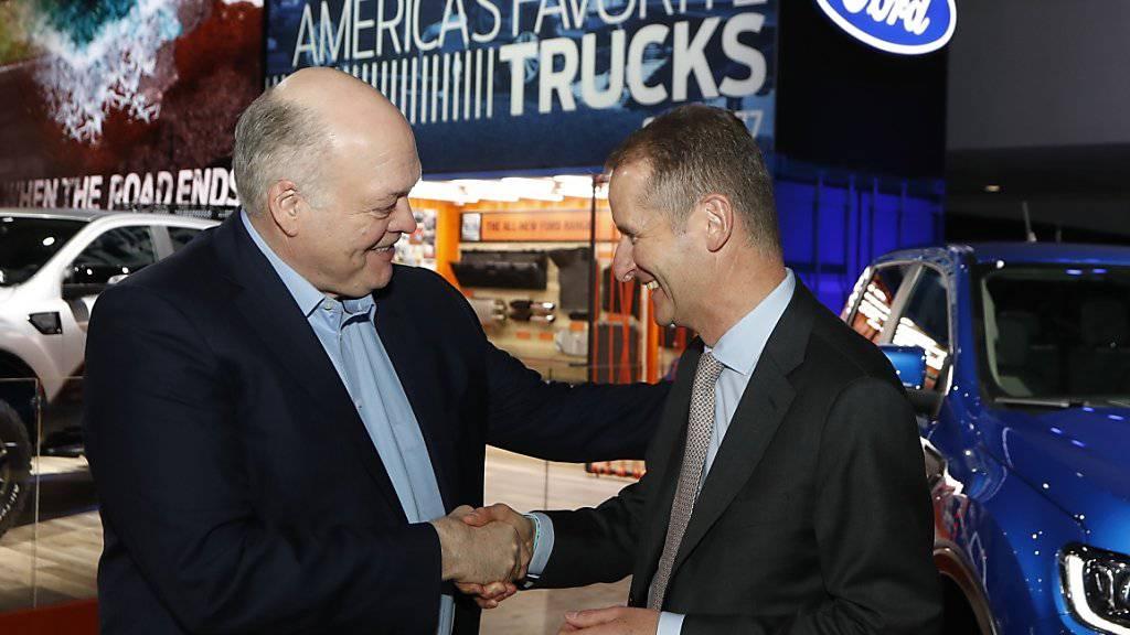 Volkswagen und Ford vereinbaren Zusammenarbeit bei leichten Nutzfahrzeugen. (Archiv)