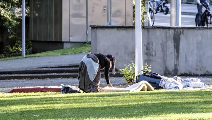 In der Stadt fällt auf, dass es mehr Bettler hat als auch schon.