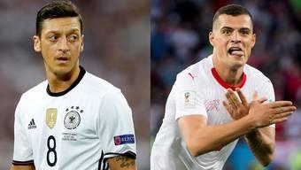Özil und Xhaka.