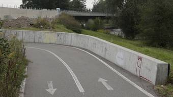 Die Brücke über die Wiese bei Lörrach ist seit 2007 fertig.