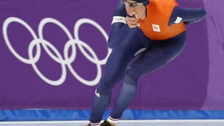 Der Niederländer Sven Kramer gewinnt zum dritten Mal in Serie Olympia-Gold über 5000 m
