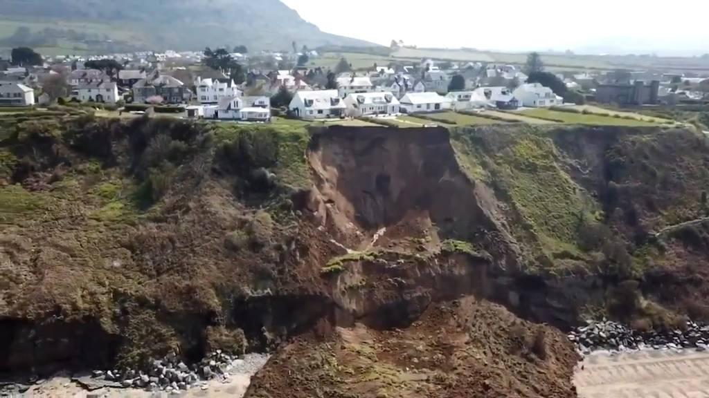 Erdrutsch in Wales: Anwohner verlieren ihre Gärten