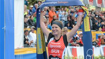 Petra Eggenschwiler bei ihrem Triumph am Sonntag in Zofingen. Michael Wyss