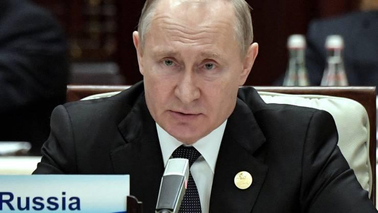 Russlands Präsident Putin an der Seidenstrasse-Konferenz in China.