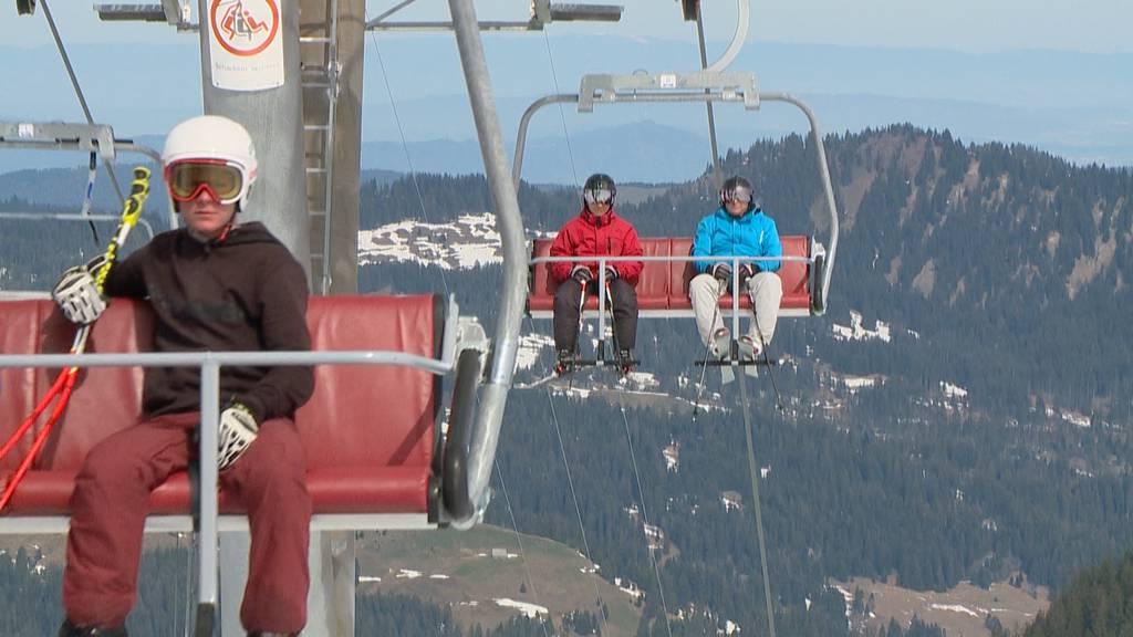 Letzter Skitag auf dem Hoch-Ybrig
