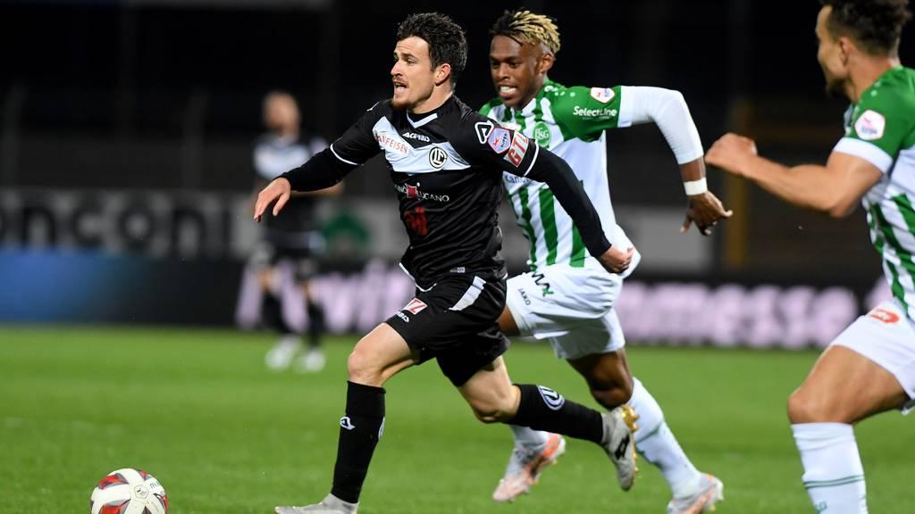 Der FC St.Gallen verliert mit 0:2 gegen den FC Lugano