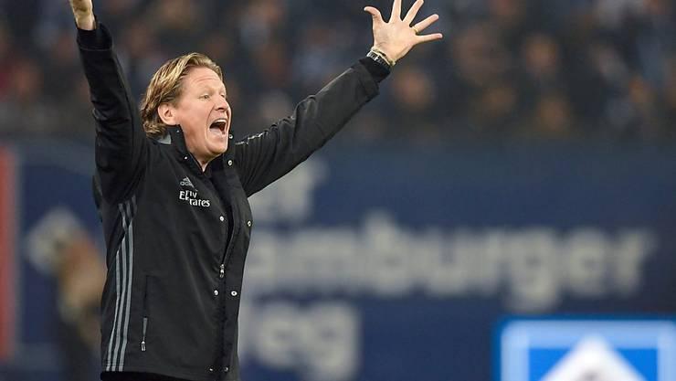 Jubel bei Trainer Markus Gisdol: Sein HSV steht im Cup-Viertelfinal