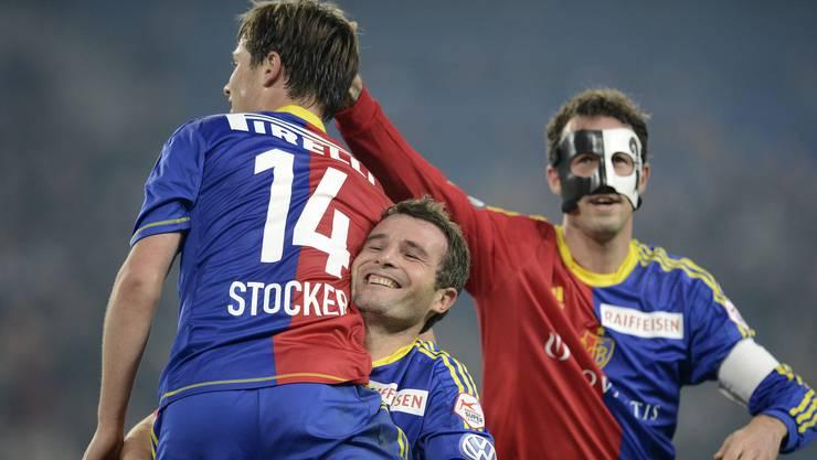 Kennen sich lange und sind längst Freunde: Valentin Stocker, Alex Frei und Marco Streller hier im Jahr 2012.