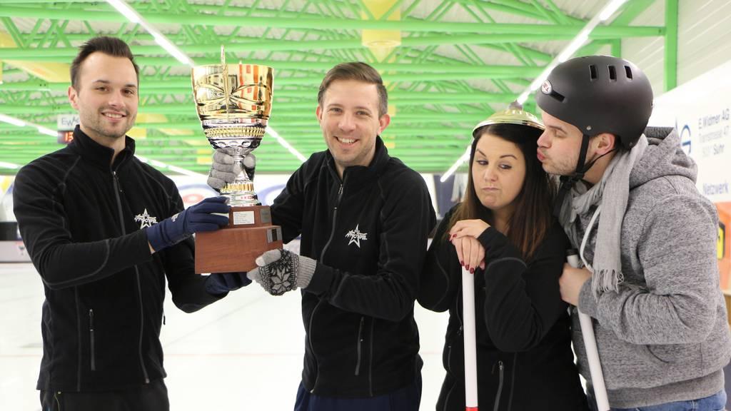 Das Aarauer Curling Team in PyeongChang