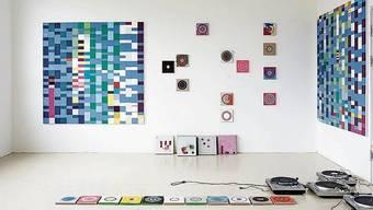Die lineare Kunst prägt den Blick in Reichweins Atelier.