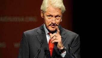 Ex-US-Präsident Bill Clinton bei seiner Rede in Melbourne