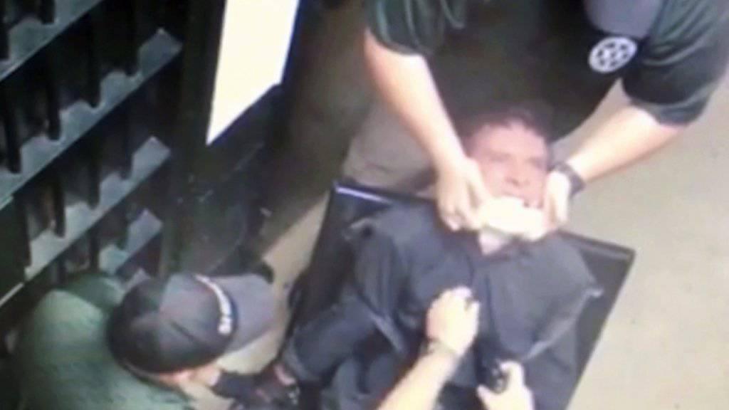 Eine Überwachungskamera hielt die mutmassliche Folterszene in einem Gefängnis im US-Bundesstaat Tennessee im November 2016 fest. (Archivbild)