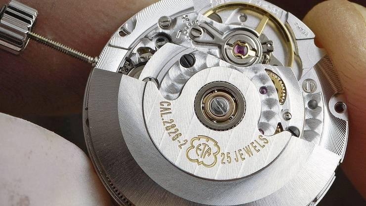 Beschäftigt die Wettbewerbshüter: Mechanisches Uhrwerk der ETA.