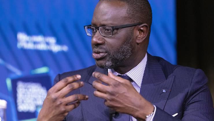 Gestern trat er öffentlich auf: Tidjane Thiam, CEO der Credit Suisse, sprach in New York am Bloomberg Global Business Forum - allerdings nicht über den Beschattungsskandal.