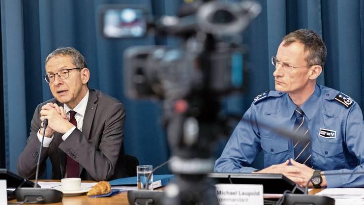 Der Aargauer Polizeidirektor Urs Hofmann (links) und Polizeikommandant Michael Leupold sind beide mit dem Coronavirus infiziert.