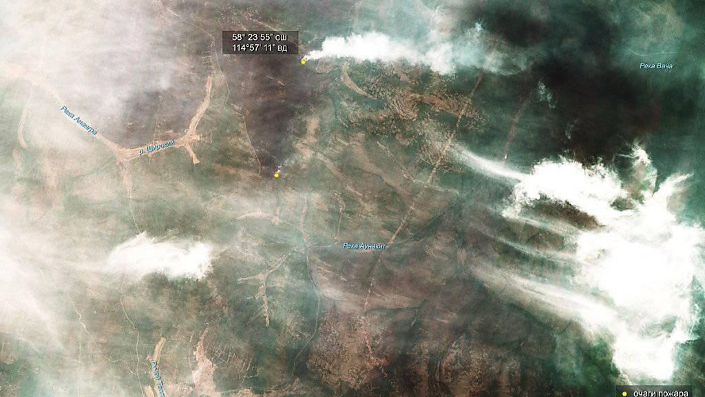 Waldbrände in Sibirien breiten sich weiter aus