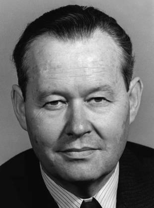 Hans Schaffner, FDP, war vor Doris Leuthard der letzte Aargauer im Bundesrat – von 1961 bis 1969.