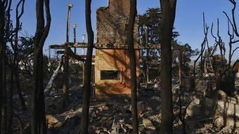 Brandruine in Malibu. Von der Feuersbrunst blieben auch die Häuser vieler Prominenten nicht verschont.