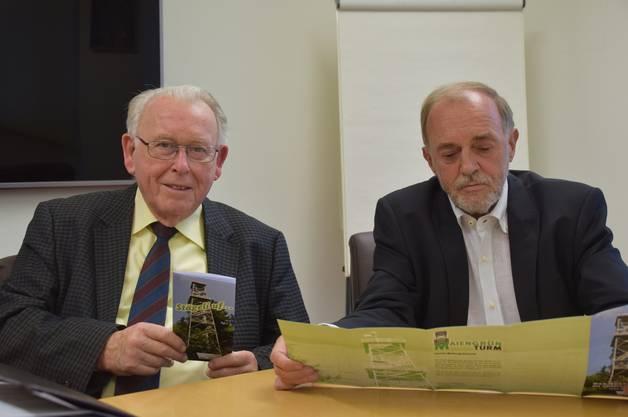 Marcel Geissmann (links) und Urs Bosisio stellen das geplante Sponsoring-Konzept vor.