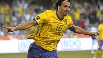 Zlatan Ibrahimovic steuerte drei Tore zum Sieg der Schweden bei