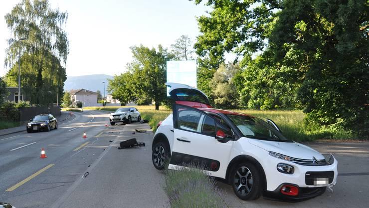 Biberist SO, 26.Mai: Bei einer heftigen Kollision zwischen zwei Autos wird niemand verletzt. Es entstand jedoch erheblicher Sachschaden.