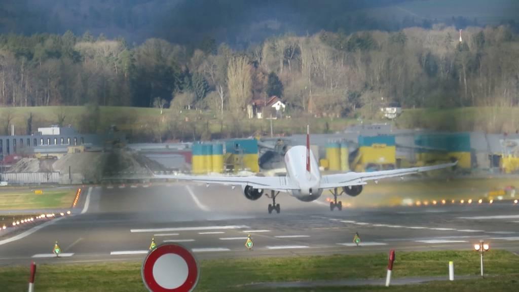 «Sabine» wirbelt Zürcher Flugverkehr durcheinander