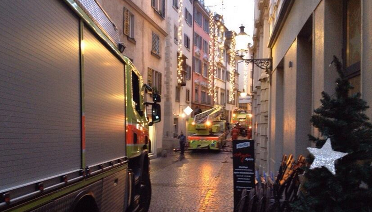 Feuerwehr in vollem Einsatz.