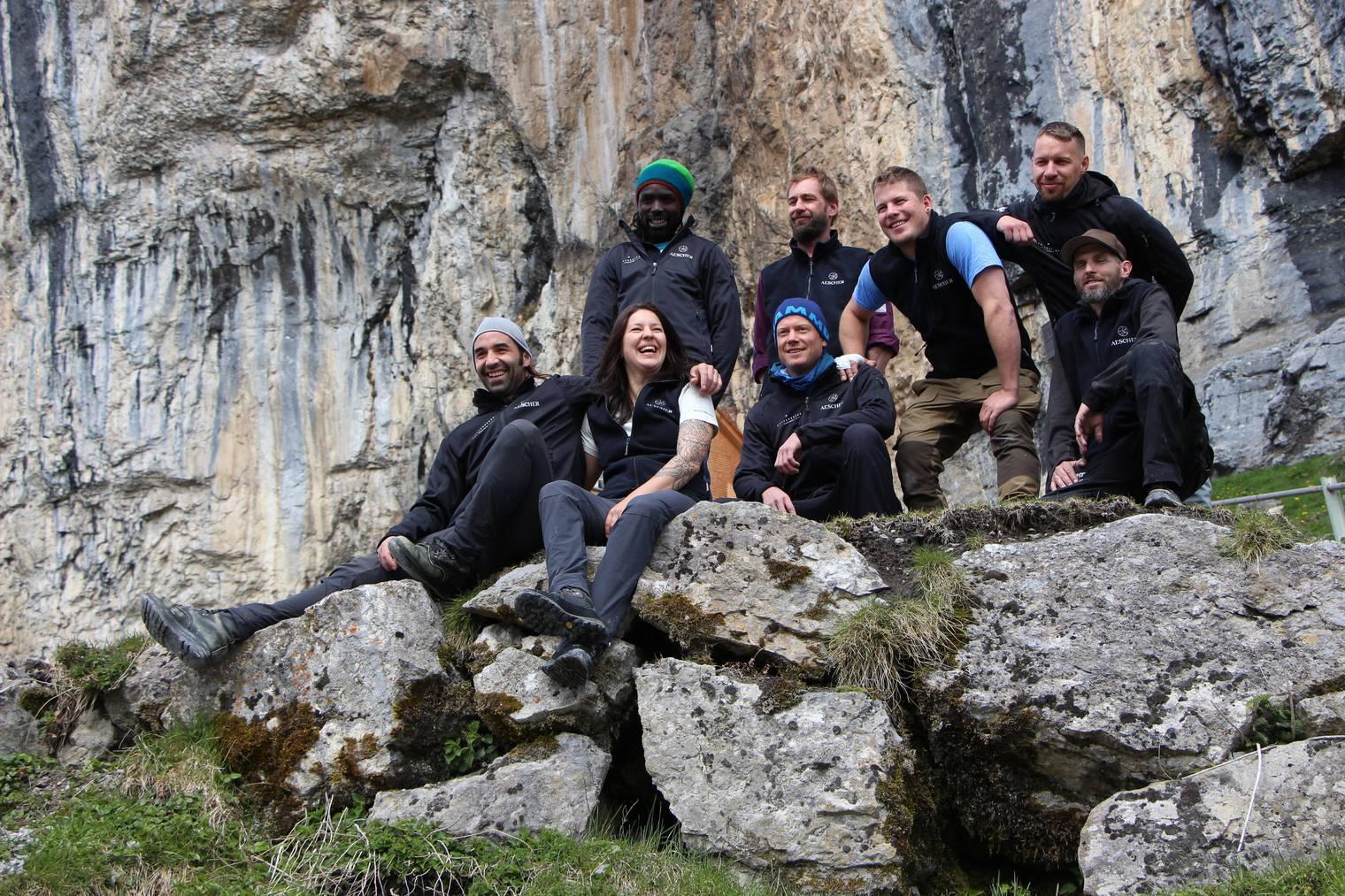 Die neue Äscher-Crew. (Bild: Christoph Thurnherr/FM1Today)