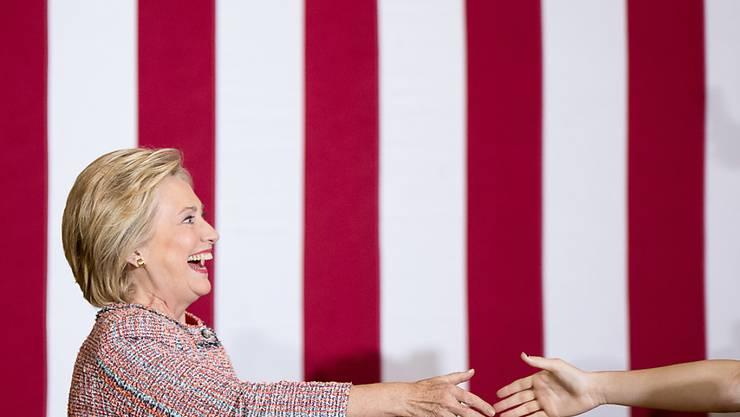 US-Präsidentschaftskandidatin Hillary Clinton bei ihrem Auftritt in Greensboro.
