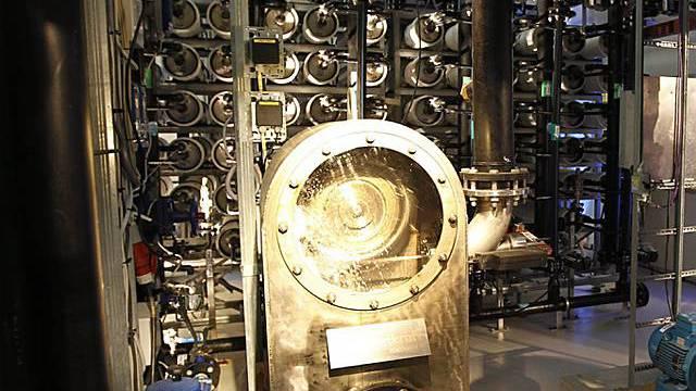 Blick in das Osmose-Kraftwerk