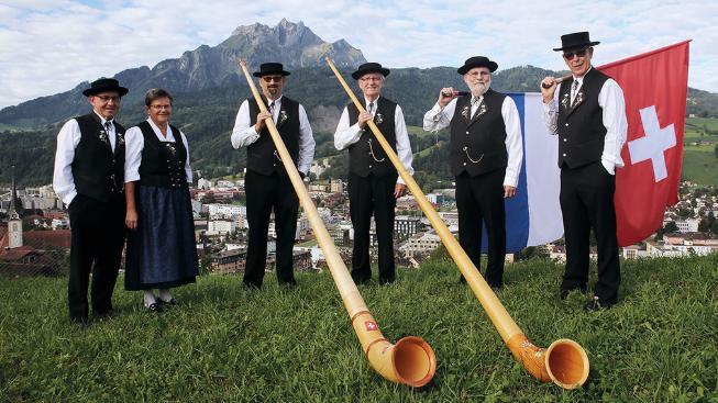 Jodlerfest-Aufbau mit viel Schweiss