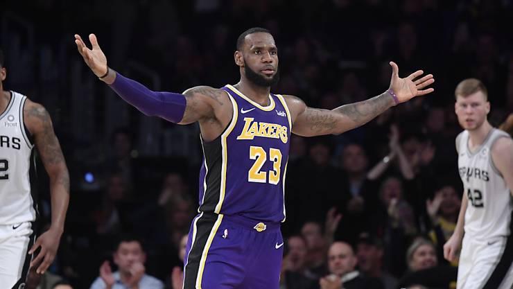 LeBron James führt die Los Angeles Lakers zurück in die Erfolgsspur
