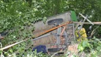 Die Kutsche stürzte eine Böschung hinunter.