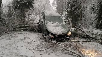 Unfall in Leuggern am 14. Januar 2021