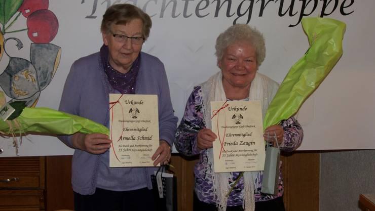 von links: Armella Schmid und Frieda Zeugin