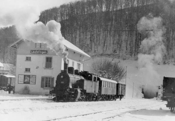 Bis 1953 dampften Züge über den alten Hauenstein (Foto ca. 1950)