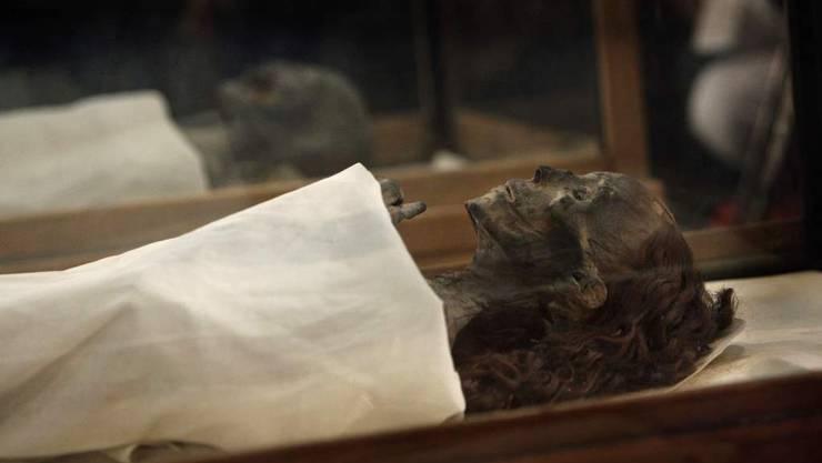 Mumien aus dem alten Ägypten. Hier ein bereits museal aufbereitetes Exemplar.
