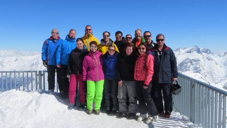 Die Teilnehmer auf 3500 m.ü.M.
