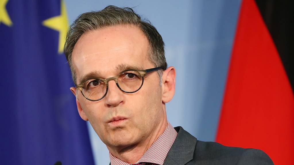 Der deutsche Aussenminister Heiko Maas will sich dafür einsetzen, dass die USA ihren Entscheid überdenken, aus dem Opens-Skies-Abkommen auszutreten. (Archivbild)