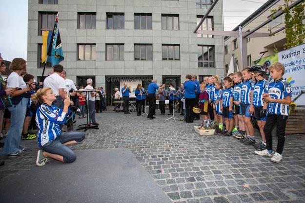 WM-Siegerin Kathrin Stirnemann in Gränichen empfangen